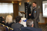 Professor Damian Hughes speaking at the Knowsley Ambassadors event, Feb 1, 2018