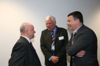 David Williams Bellway Homes with Cllr Graham Morgan and John Flaherty Knowsley Council